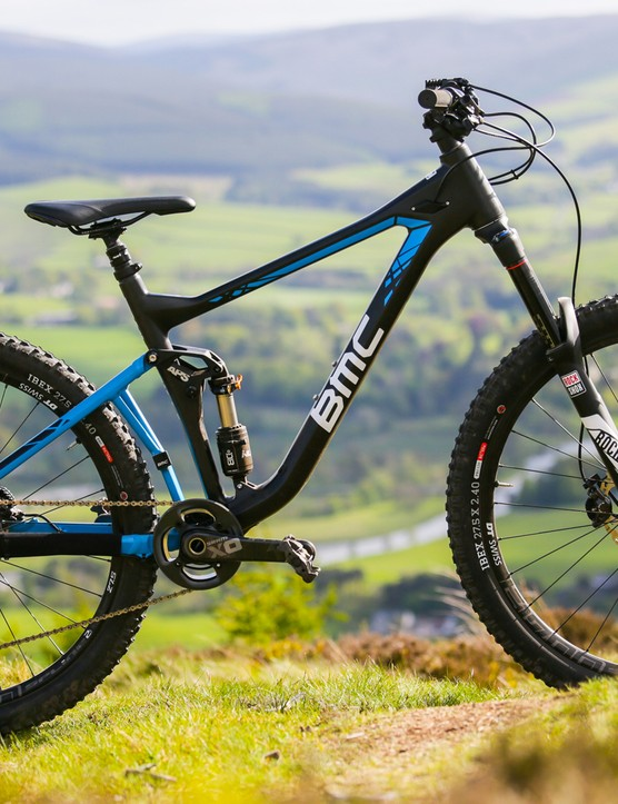 The BMC Speedfox 27.5 Trailcrew 02 in all its glory on an unusually sunny Scottish hillside