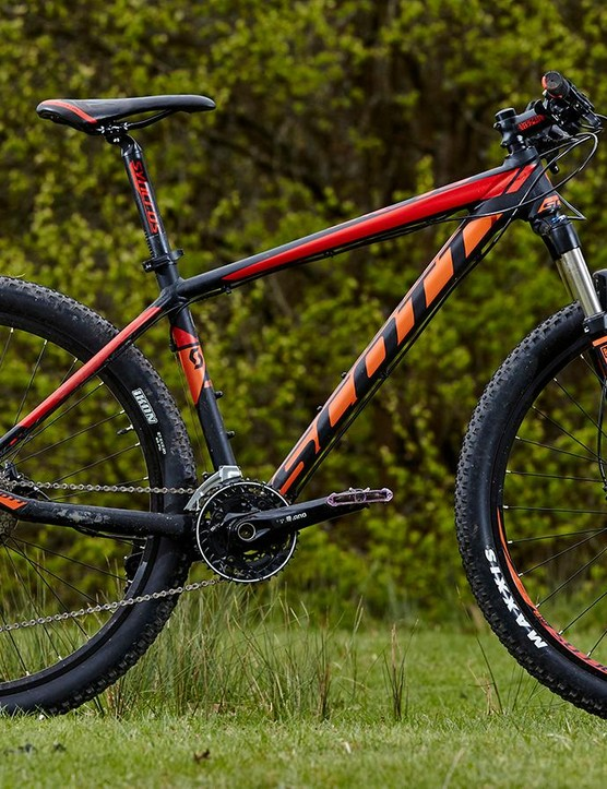 Scott's Scale 760 has the same XC race geometry as its high-end carbon siblings