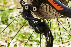 Out back is an XT derailleur – another pleasing detail