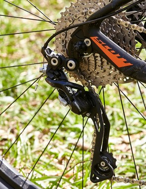 Out back is an XT derailleur –another pleasing detail