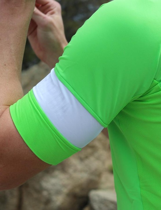 The Pro Team Jersey is treated with Coldblack, which reflects heat
