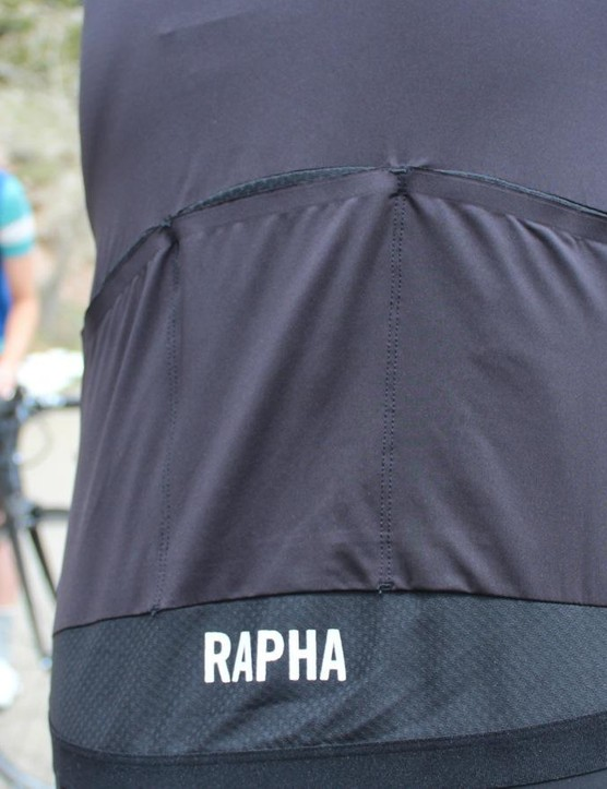 Mesh side panels and tail on the Pro Team Aero Jersey