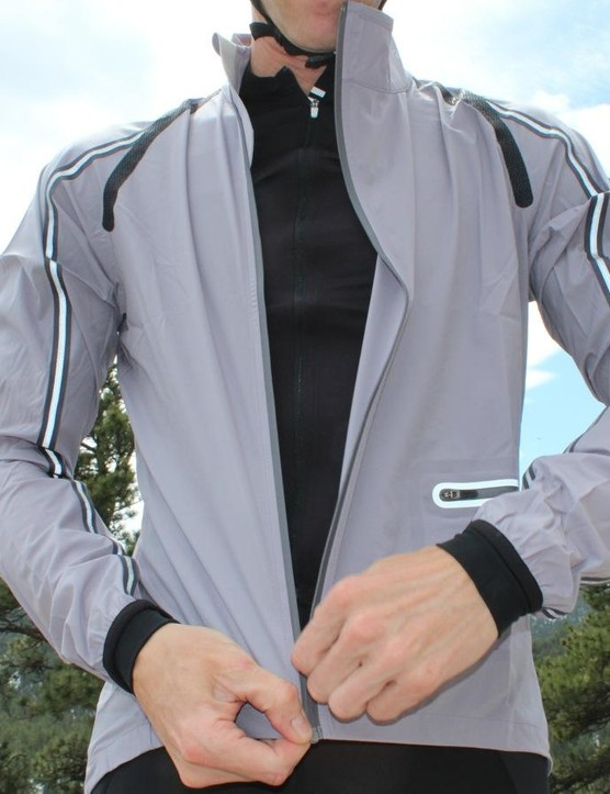 The Classic Wind Jacket is windproof and water-resistant, with plenty of reflectivity front and back