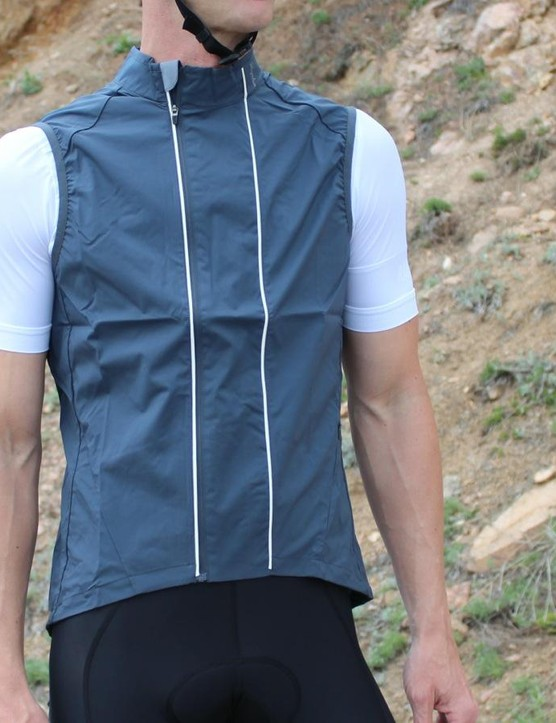 The Rapha Gilet comes in gray and orange