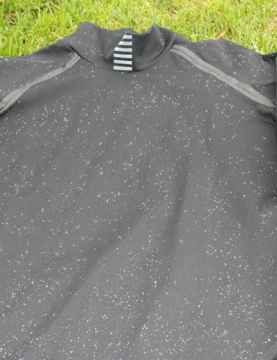 The Pro Team Softshell is an interesting baselayer —it's water-repellant