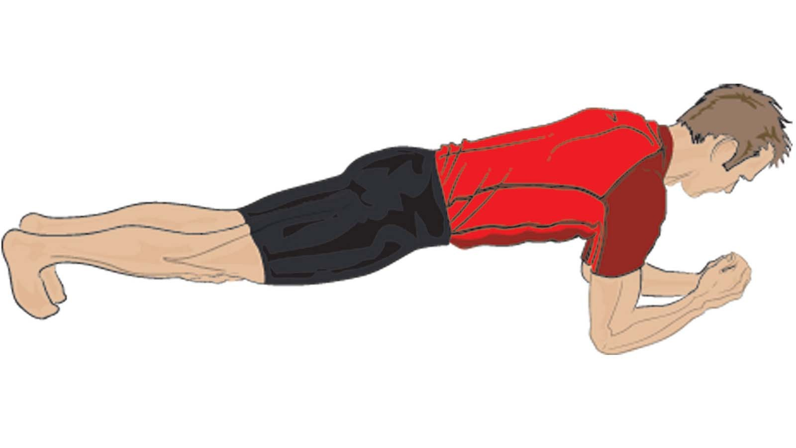 Support your weight on your elbows and feet to do the plank