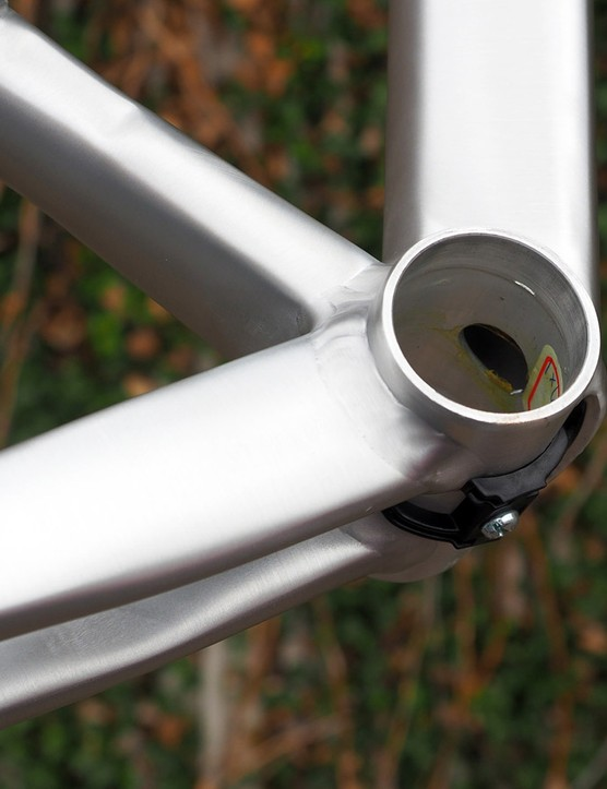 Some might lament Eddy Merckx's decision to use a PF86 press-fit bottom bracket shell but it does allow for wider chainstay spacing. The PF86 format has also proven to be less prone to bearing issues than PF30