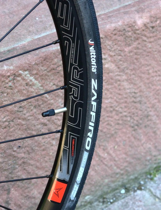 The V85 comes with 28mm Vittoria Zaffiro tyres