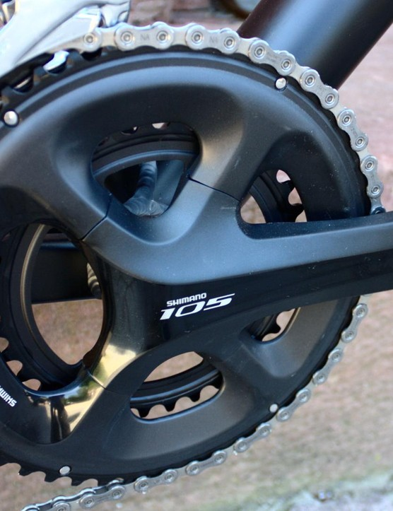 The Shimano 105 groupset is impressive for the price