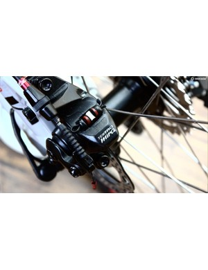 The Tektro Mira brakes are also cable-actuated with no hydraulic element