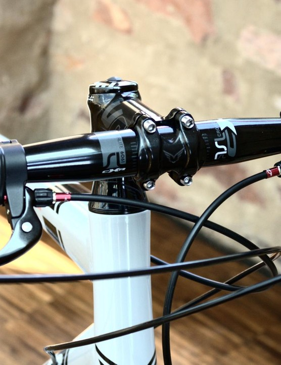 Felt has included top mounted brakes probably best suited to touring
