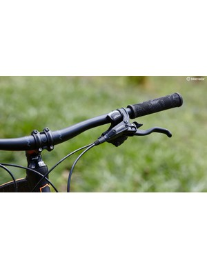 A decent length head tube keeps the handlebar height at the right level for good all-round handling without nasty surprises