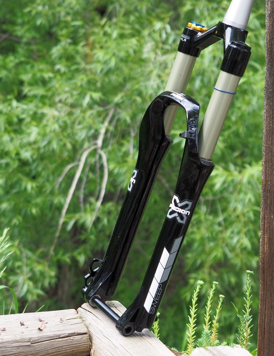 X-Fusion's updated Sweep RC HLR trail/enduro fork looks to be a solid competitor to the RockShox Pike and Fox 36 with its new bladder charged damper design