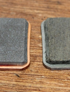 Here is a new metallic (left) and a new organic SRAM pad