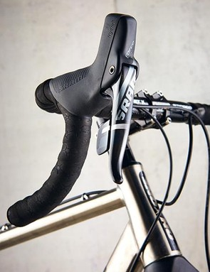 The On-One uses of 1x11-speed with a clutch on the rear derailleur