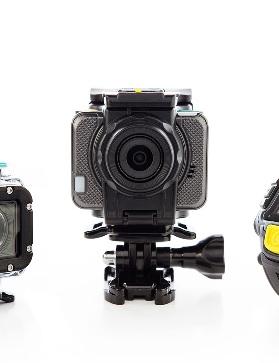 EE's 4GEE action camera complete with its supplied waterproof case and viewfinder watch