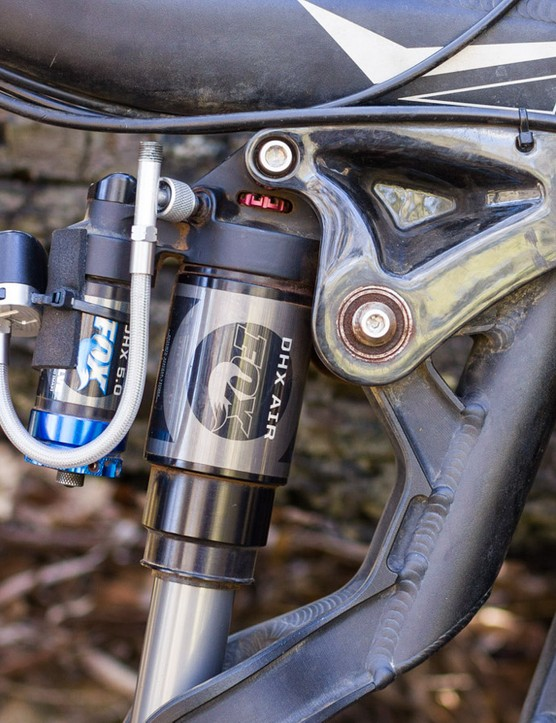 The ShockWiz simply attaches to the shock/fork with a zip tie