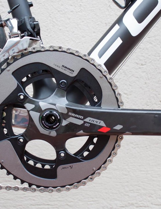 BikeRadar's test bike had a full SRAM Red 22 hydraulic groupset
