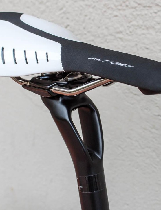 The funky CPX Plus carbon seatpost adds extra comfort