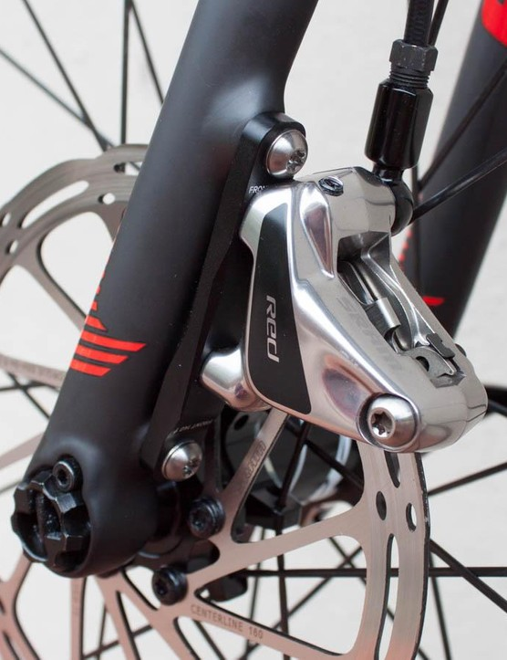 The Flat Mount SRAM Red front brake