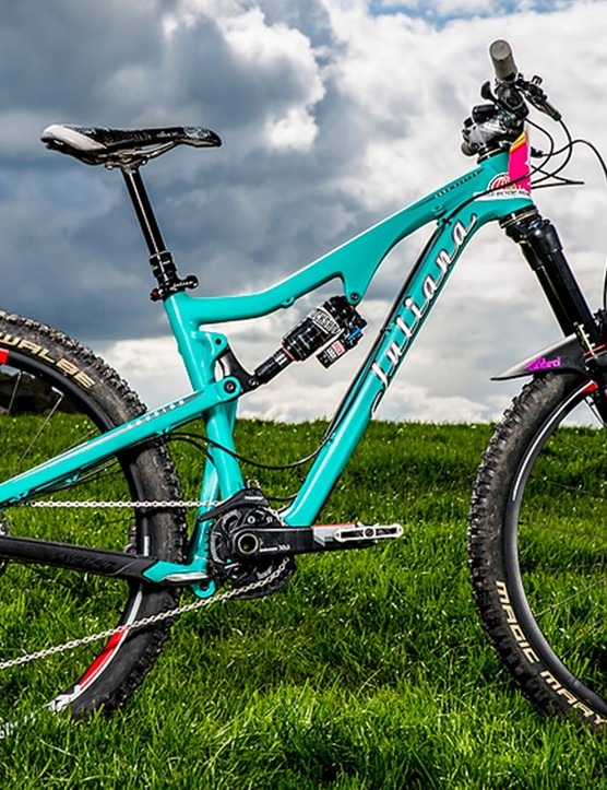 The Juliana Roubion women's bike is based around the popular Santa Cruz Bronson frame