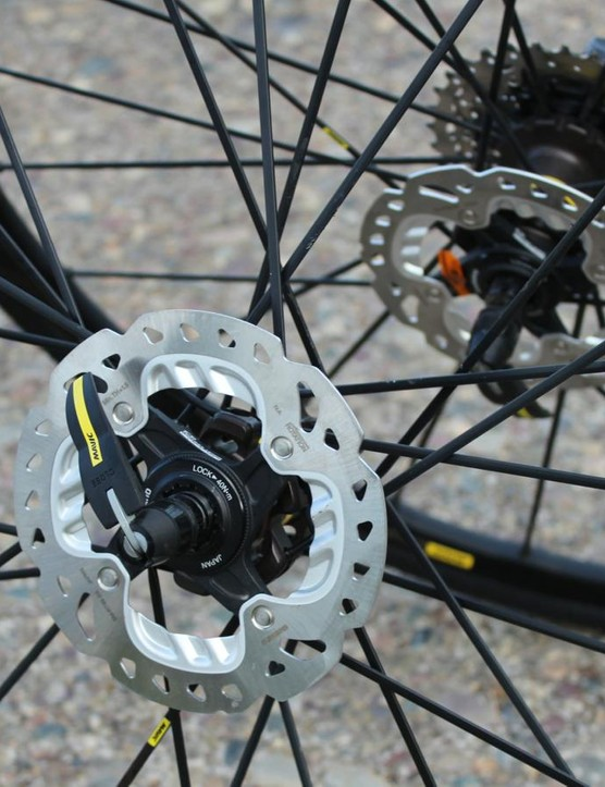 24 spokes front and rear make for a solid wheel