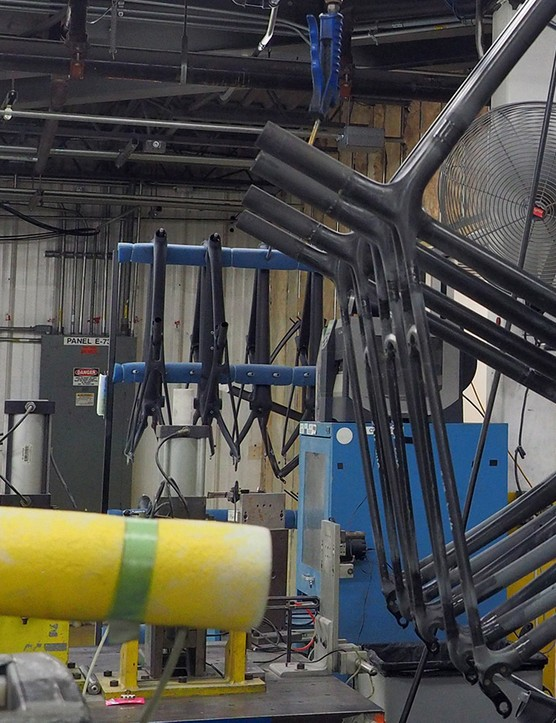 Not many companies give its customers a firsthand look at how some of its carbon frames are made
