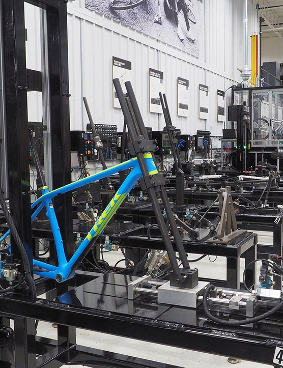 Part of the tour will take you through Trek's expansive test lab