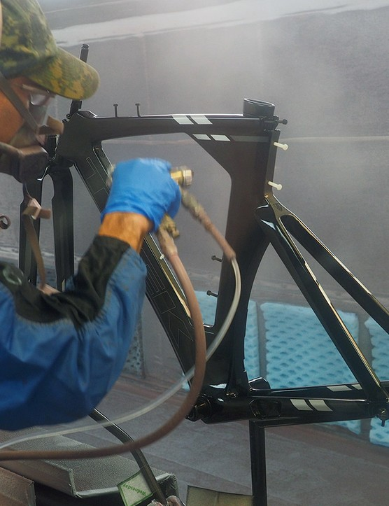 Project One frames are painted in-house by a mix of man and machine