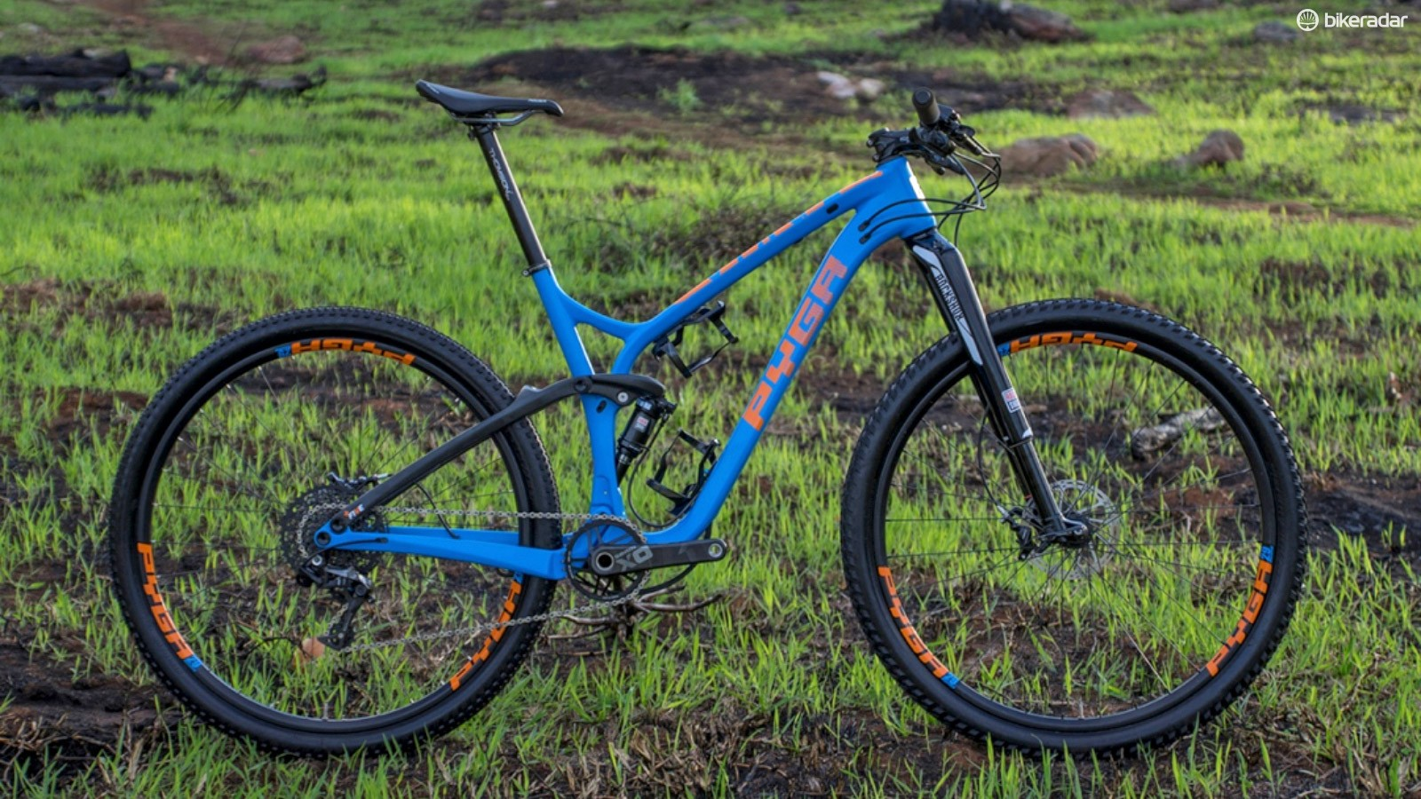 South African company Pyga Industries has announced two new carbon models: the 95mm-travel Stage cross-country racer (shown here) and 126mm-travel Stage Max for marathon events