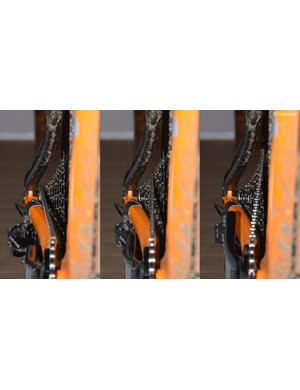 Pyga says its 'Plus 5' offset rear end yields a more centered chainline than standard or even Boost 148 drivetrains