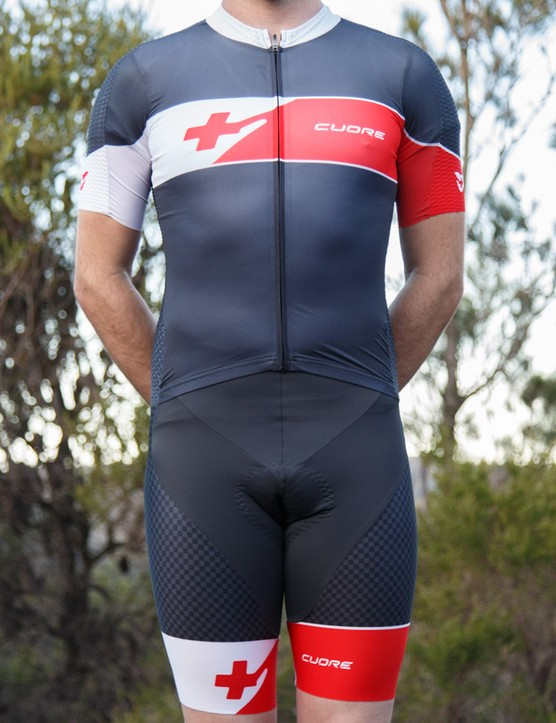 Custom clothing brand Cuore does things differently, such as this Two-In-One suit. It's like a skinsuit, but not