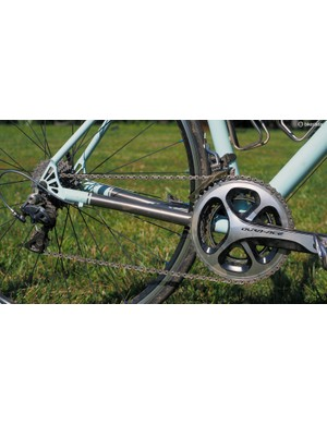 Not many, if any, mainstream titanium companies would dare build a road frame with 1in-diameter chainstays