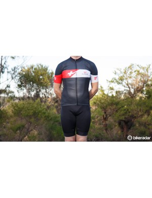This Silver jersey is very much a race-level item. Pictured is a medium (wearer normally uses small)