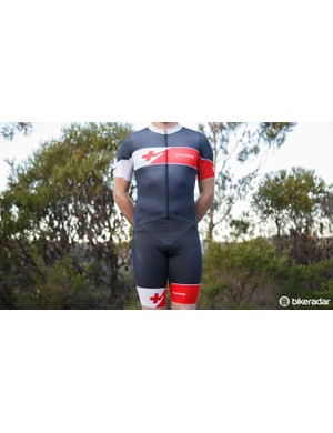 And it's absolutely a skinsuit once zipped up. Cuore does wind tunnel testing on its Gold-level products