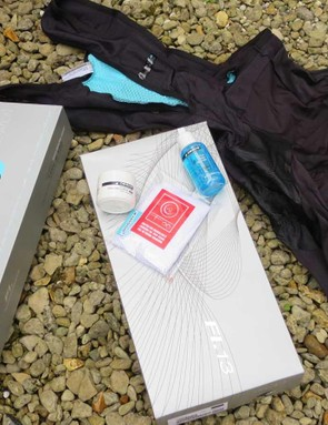 Just because they're from the factory outlet doesn't mean you don't get the full Assos packaging treatment, so a washbag, chamois cream, and washing detergent are included