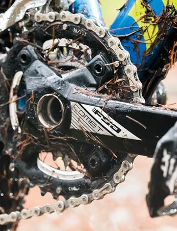 A double chainset isn't very fashionable, but works well