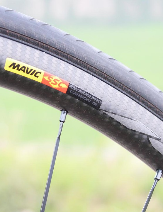 The new rim features a 17mm internal width with an alloy insert to absorb heat and interface with the tyre