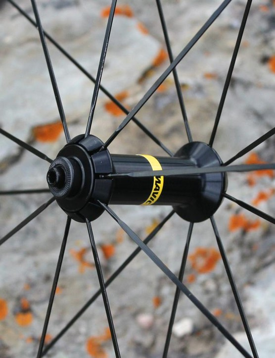 18 front and 24 rear steel spokes bode well for durability