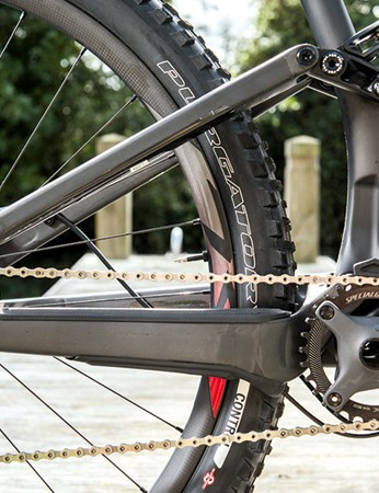 The Stumpjumper comes with a single ring setup, but it is possible to add a front derailleur if you want