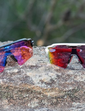 The new Oakley Radar EV Path Prizm is available in either a black Trail or a white/red Road model