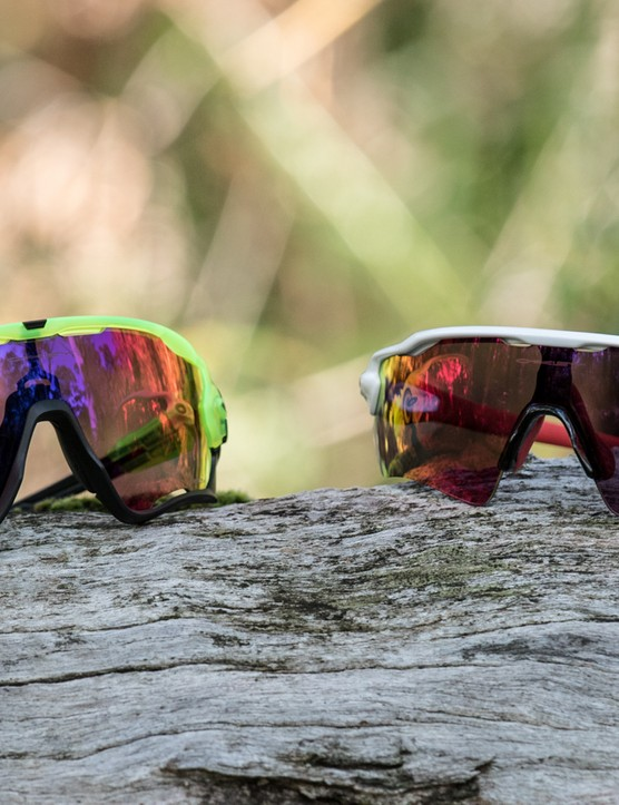 The new Oakley Jawbreaker (left) next to the new Radar EV Path Prizm Road (right)