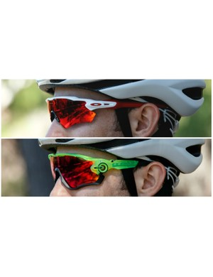 The Oakley Radar EV Path (top) compared with the Jawbreaker (bottom)