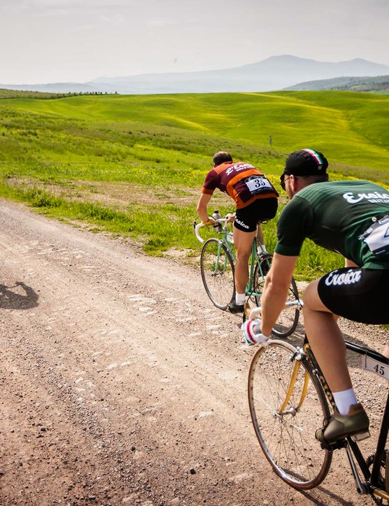 They're not designed for performance, but the Eroica jerseys ooze style