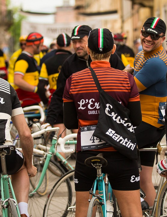 Eroica is all about the celebration of old road bikes and vintage kit