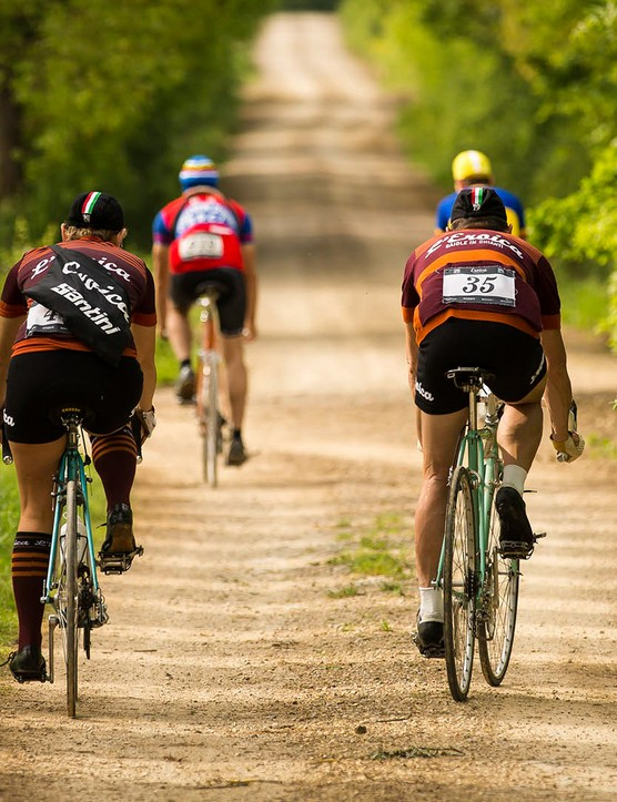 Expect more riders than this during Eroica events, which have up to 5,000 competitors