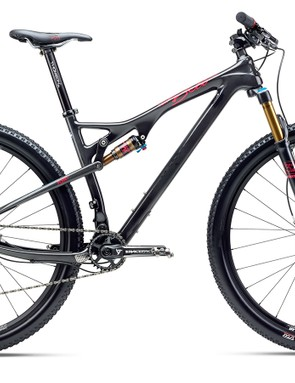 The Beti ASRc has 120mm of front suspension and 100mm in the back. The extra small and small sizes use 27.5in wheels while the larger sizes get 29er hoops. It retails for US$5,799