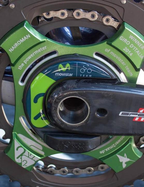 Quintana's custom Power2Max power meter