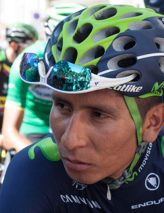 Certified badass Nairo Quintana looks utterly unperturbed on the start line