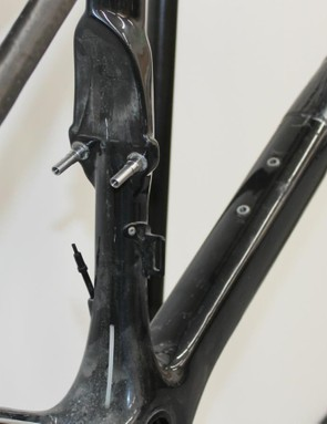 The seat-tube mount for the rear brake